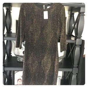 South Moon Under Abbeline black/gold dress (NWT)